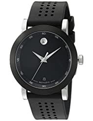 Movado Men's 0606507 Museum Black Rubber Watch