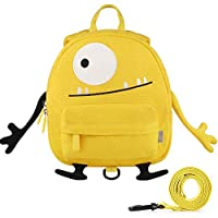 GAGAKU Mini Toddler Backpack for Kids, Anti-Lost Preschool Backpack with Leash - Yellow