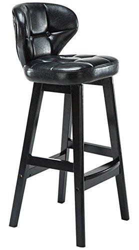 STARDUST 木製 インテリア スツール カウンターチェアー 椅子 おしゃれ (Mサイズ ブラック) SD-CAFSTOOL-M-BK B0727P4W96 Mサイズ|ブラック ブラック Mサイズ