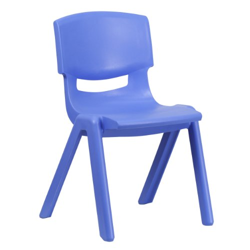 Flash Furniture 5 Pk. Blue Plastic Stackable School Chair with 15.5 Seat Height