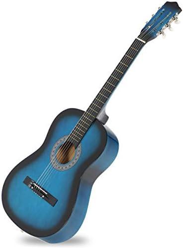 JungleA 38 inch 6-String Acoustic Guitar for Beginners Music Lovers Kids StarterGig BagStrap Digital E-Tuner and Pick