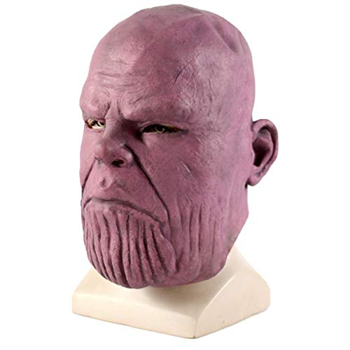 Thanos Mask Infinity War Latex Mask Superhero Helmet Full Face Halloween Cosplay Costume Party Props Adult red ()