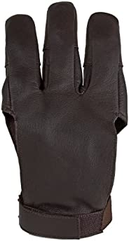 Damascus Archery Shooting Glove, Three Finger Design Fits Either Hand, Velcro Strap