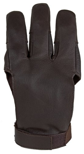 Damascus DWC Archery Shooting Glove, Three Finger Design Fits Either Hand, Velcro Strap, Medium