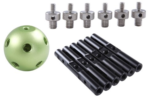 Movo Photo MBA6 Universal Magic Ball Multi Accessory Adapter with 6 Rods for DSLR Video Cages, Rigs and Magic Arms by Movo