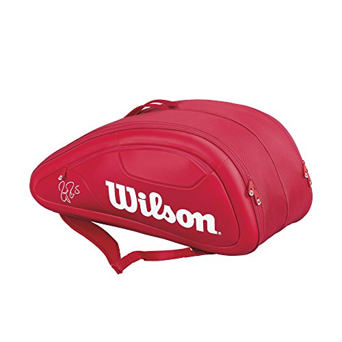 Wilson Federer DNA Collection Racket Bag (Holds up to 12), Red by Wilson