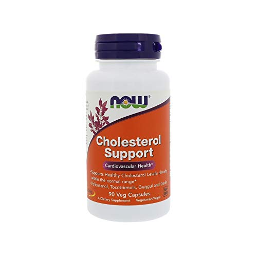 (NOW Supplements, Cholesterol Support, Featuring Policosanol, Tocotrienols, Guggul and Garlic, 90 Veg Capsules)