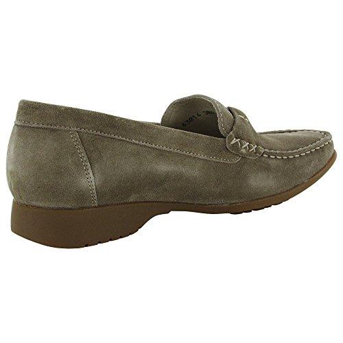 Mephisto Femmes Idelia Chaussures En Daim Mocassins Camel