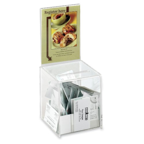 Safco Products 4235CL Small Acrylic Collection Boxes, Clear
