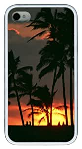 iphone 4 case free shipping covers Sunset 2 TPU White for Apple iPhone 4/4S