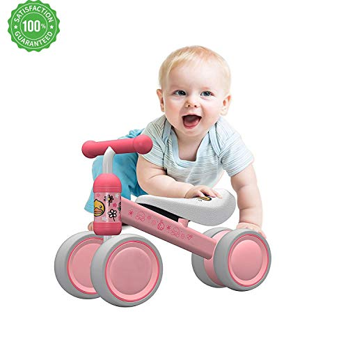 EvoBaby Baby Balance Bikes for Babies – Baby Balance Bikes Bicycle Children Walker 10 Month -24 Months Toys for 1 Year Old No Pedal Infant 4 Wheels Toddler First Birthday Gift – Baby's First Bike