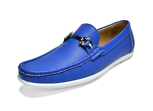 Bruno Marc Men's BENNETH-01 Blue Driving Loafers Moccasins Shoes Size 9 M US