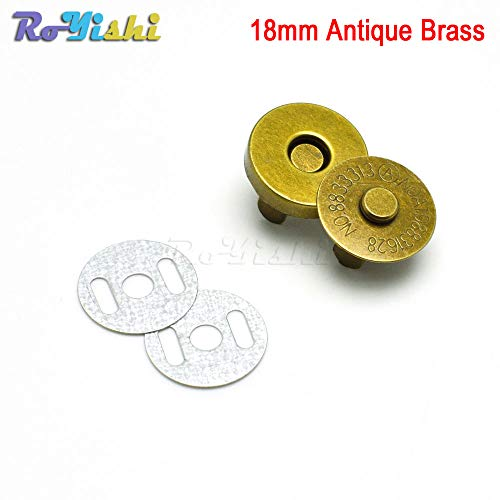 Resin Buttons Magnetic Snap Fasteners Clasps Buttons Handbag Purse Wallet Craft Bags Parts Accessories 14mm 18mm -