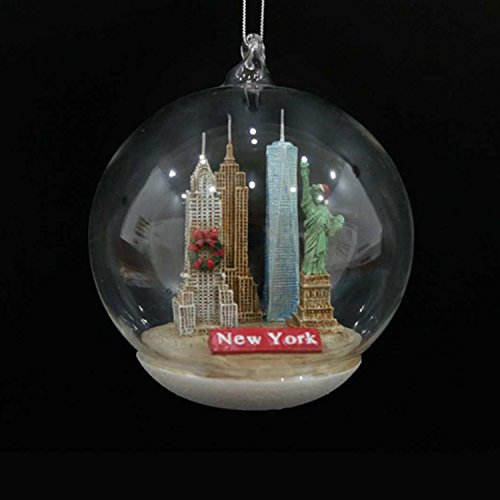"Kurt Adler 4"" New York City Landmarks Glass Dome Decorative Christmas Ornament"