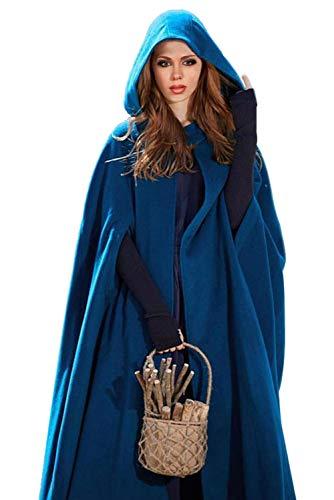 Women's Medieval Hood Cloak Elven Fantasy Halloween Costume Vintage Long Hooded Cape Robe ()