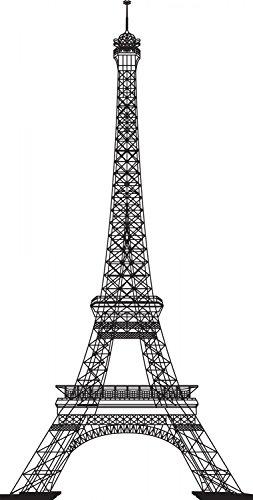 Wallmonkeys Eiffel Tower Decals WM318615 product image