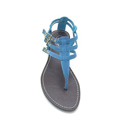 Nuovi Sandali Infradito Da Donna Comfort Brieten Con Cinturino A Straps Blu