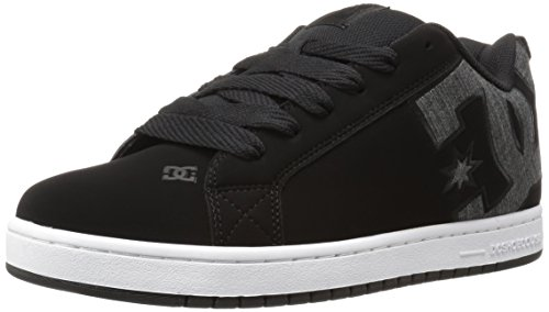 DC Men's Court Graffik SE Skateboarding Shoe, Black Wash, 7 M US