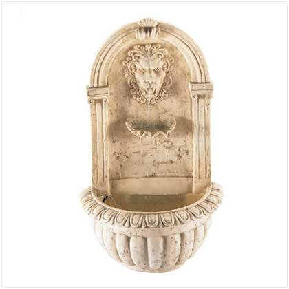 Lion Head Outdoor Wall Mount Garden Water Fountain by Sunshine Megastore