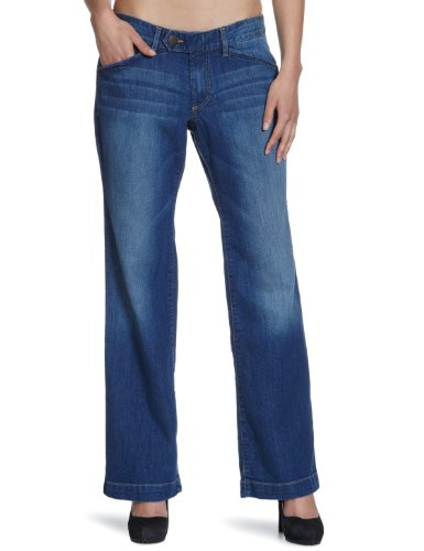Eddie Bauer Jeans Donna Vita Bassa, 21217119 Blu (Medio Vintage)