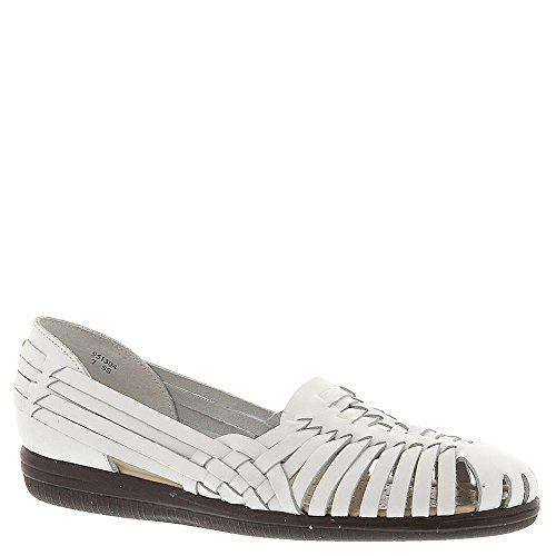 softspots Women's Trinidad,White Leather,US 7.5 M