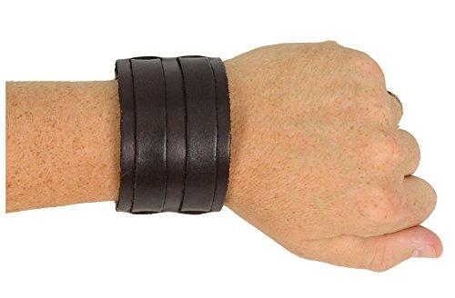 Luke Duke Costume (Leather Double Strap Wristband Jedi Costume Accessory (Brown))