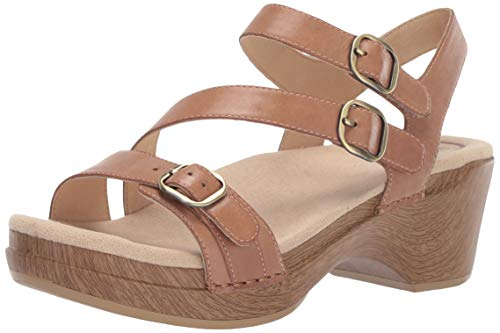 (Dansko Women's Sacha Sandal, tan Burnished Calf, 42 M EU (11.5-12 US))