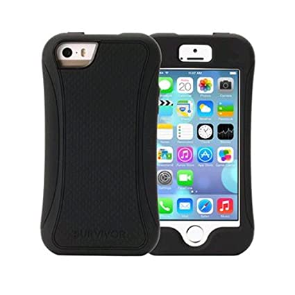huge discount b3aae 97a0f Griffin Survivor Slim Case for Apple iPhone 5/5S - Black