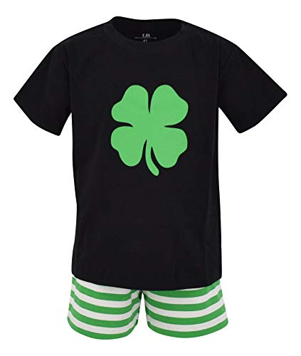 Unique Baby Boys 2 Piece St Patricks Day Clover Outfit (5, -
