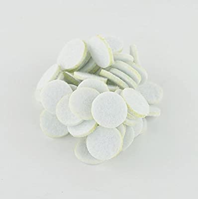 SAMYO Essential Oil Aromatherapy Diffuser Locket Necklace Refill Pads- 50 Piece