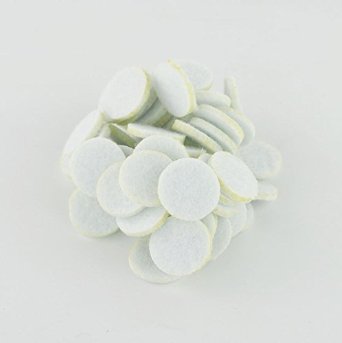Diffuser Cotton Pads (SAMYO Essential Oil Aromatherapy Diffuser Locket Necklace Refill Pads- White- 50 Piece)