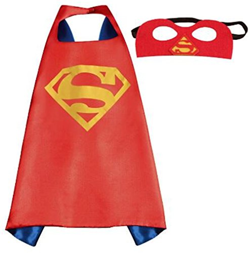 NYKKOLA Cartoon Dress Up Costumes Satin Capes with Felt Masks for Children Boy and Girl (NO.6) -
