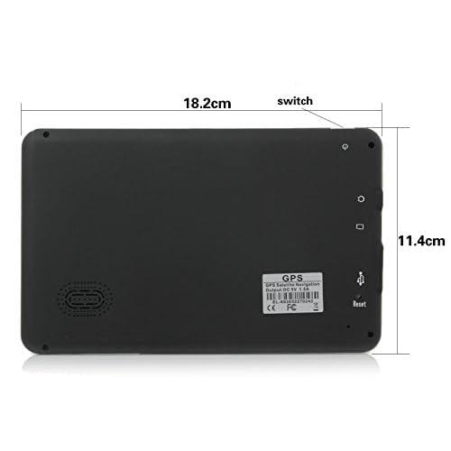 mise jour de 2017 xinda 17 8 cm portable navigation gps avec cran 800 x 480 cran tactile lcd. Black Bedroom Furniture Sets. Home Design Ideas