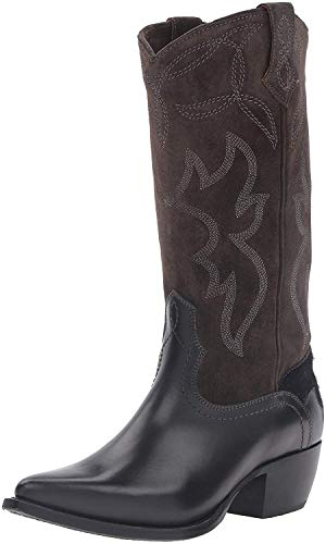 Frye Women's Shane Embroidered Tall Western Boot, Charcoal, 8.5 M US