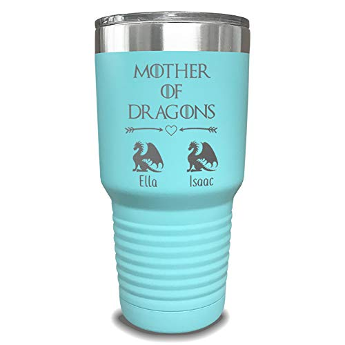Mother Of Dragons Personalized Tumbler - Laser Engraved, add up to 10 dragons - Perfect Gift for Moms or Mothers Day Gift