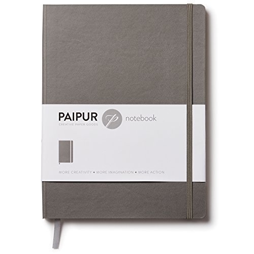 PAIPUR Notebook Journal ~ Fountain Pen Edition ~ BLANK Pages ~ Large 9.75