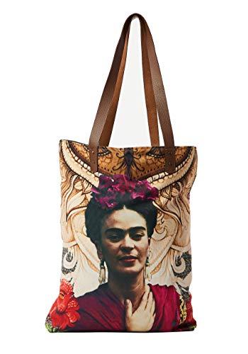 Akitai Frida Kahlo Passionate Rose Purse - Shoulder - Travel Tote - Boho - Handbag - Womens Bag from Akitai