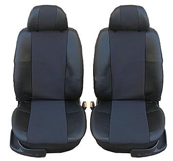 1+1 Premium Sitzbezüge Schonbezüge Grau Schwarz Stoff für Mercedes Benz Volvo VW