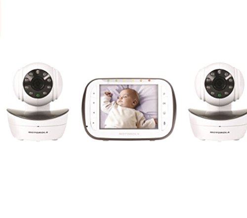 Motorola Digital Video Baby Monitor with 2 Cameras, 3.5 Inch Color Video Screen, Infrared Night Vision, with Camera Pan, Tilt, and Zoom (Wireless Baby Monitor Motorola)