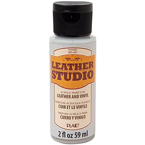 Leather Studio Leather Paint (2-Ounce), 71414 Grey