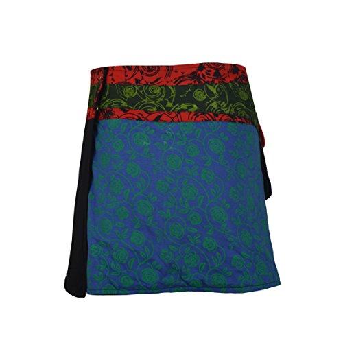 dd30e44c62cc54 TATTOPANI Mode Multicolor Frauen Wrap-Runde Hippie-Popper-Rock UK 6 ...