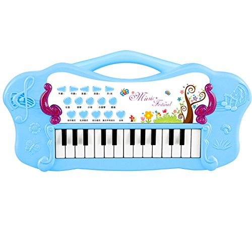 DUWEN Keyboard Fashion Creative Children Electronic Keyboard  1-3-6 Beginners Early Learning Portable Keyboard Keyboard (Blue) by DUWEN