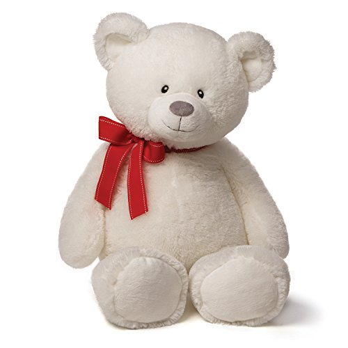 Valerie Bow (Gund Valentines Valerie Large White Bear Plush with Red)
