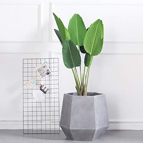 Fighch Creative Large Hexagon Cement Flower Pot Simple Living Room Decorative Flowers Planter Office Tabletop Green Potted Plant Pots for Hydroponic Herbal Cactus Container (Size : 4629cm)