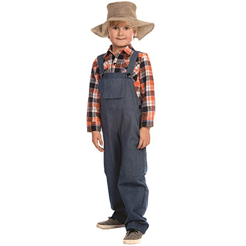 Dress Up America Farmer Costume - Size Medium (8-10) -