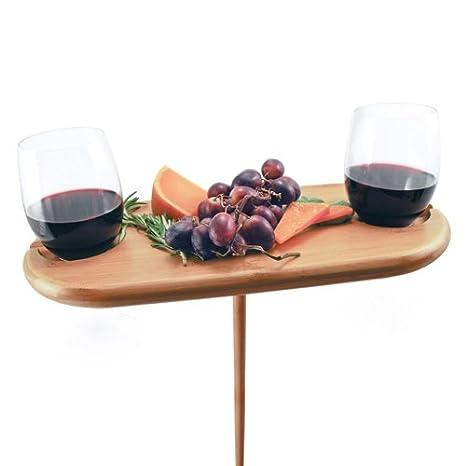 Amazoncom Michigan State Bamboo Picnic Table Kitchen Dining - Picnic table michigan