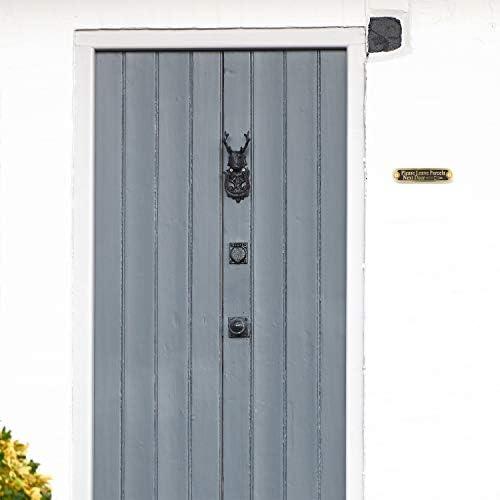The Metal Foundry Se/ñal de Puerta de lat/ón Macizo Placa de Pared de Estilo Tradicional para decoraci/ón del hogar Hecha a Mano en Reino Unido.