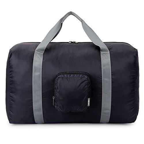 HEXIN 38L Unisex Waterproof Duffel Bag Lightweight Carry on Bag Black American Tourister Lightweight Garment Bag