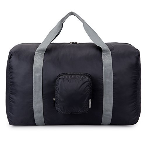 HEXIN 38L Unisex Waterproof Duffel Bag Lightweight Carry on Bag Black