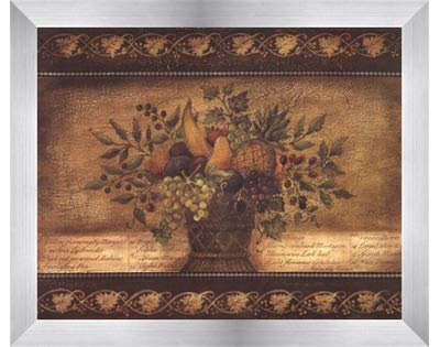 Old World Abundance I by Kimberly Poloson – 10 x 8インチ – アートプリントポスター LE_112347-F9935-10x8 B01NCYJUBU Stainless Steel Wood Frame